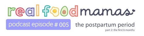 Real Food Mamas Podcast - postpartum first 6 months